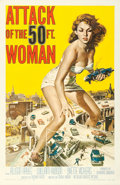 """Movie Posters:Science Fiction, Attack of the 50 Foot Woman (Allied Artists, 1958). One Sheet (27""""X 41"""") Reynold Brown Artwork.. ..."""
