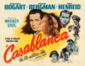 "Movie Posters:Academy Award Winners, Casablanca (Warner Brothers, 1942). Half Sheet (22"" X 28"") StyleB.. ..."