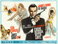 """From Russia with Love (United Artists, 1964). British Quad (30"""" X 40"""") Renato Fratini and Eric Pulford Artwork..."""
