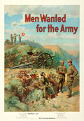 "Movie Posters:War, U.S. Army Recruitment (c. 1910). Poster (28"" X 40"") ""Men Wanted forthe Army,"" Michael R. Whelan Artwork.. ..."