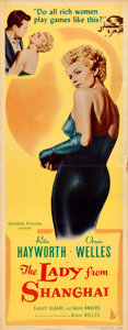 "Movie Posters:Film Noir, The Lady from Shanghai (Columbia, 1947). Insert (14"" X 36"").. ..."