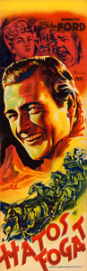 """Movie Posters:Western, Stagecoach (United Artists, 1939). Hungarian (12"""" X 37.5"""") Laszlo Muskovszky Art.. ..."""