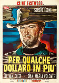 "Movie Posters:Western, For a Few Dollars More (P.E.A., 1965). Italian 2 - Fogli (39"" X55"") Rodolfo Gaspare Artwork.. ..."
