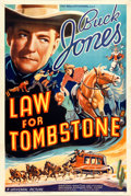"Movie Posters:Western, Law for Tombstone (Universal, 1937). One Sheet (27.5"" X 41"").. ..."