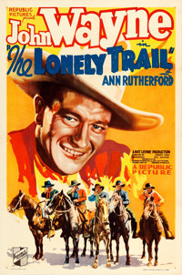 """The Lonely Trail (Republic, 1936). One Sheet (27"""" X 41"""")"""