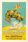 """Movie Posters:Western, Tempest Cody Rides Wild (Universal, 1919). One Sheet (27"""" X 41"""").. ..."""