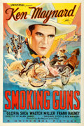 "Movie Posters:Western, Smoking Guns (Universal, 1934). One Sheet (27.5"" X 41"").. ..."