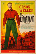"""Movie Posters:Drama, Citizen Kane (Elga Films, R-1940s). Argentinean Poster (29"""" X43"""").. ..."""