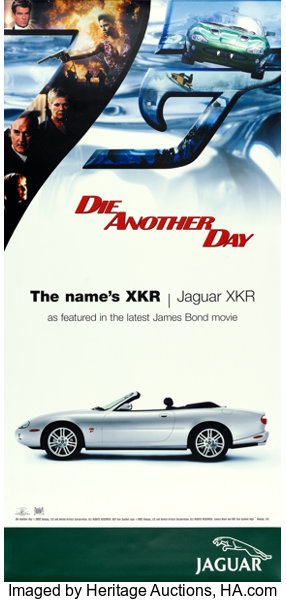 Die Another Day (MGM, 2002)  Jaguar Advertising Poster (39 5