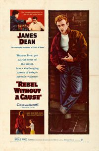 """Rebel without a Cause (Warner Brothers, 1955). One Sheet (27"""" X 41"""")"""