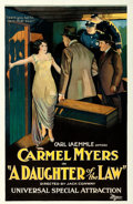 "Movie Posters:Crime, A Daughter of the Law (Universal, 1921). Trimmed One Sheet (25"" X38.5"").. ..."