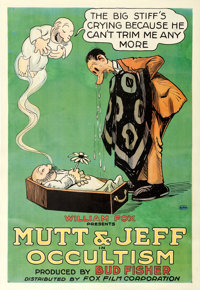 """Mutt and Jeff in Occultism (Fox, 1918). One Sheet (27"""" X 41"""")"""