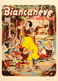 "Movie Posters:Animation, Snow White and the Seven Dwarfs (RKO, R-1950). Italian 2 - Fogli(39"" X 54"") Niso Ramponi Artwork.. ..."