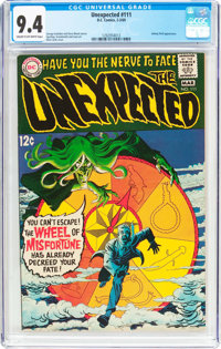 Unexpected #111 (DC, 1969) CGC NM 9.4 Cream to off-white pages