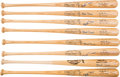 Baseball Collectibles:Bats, 2000's Monte Irvin Signed Personal Baseball Bats Lot of 8 from The Monte Irvin Collection. ...