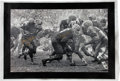 "Football Collectibles:Photos, 1965 Paul Hornung and Jim Taylor Multi-Signed NFL Championship Game(aka ""Mud Bowl"") Canvas Display...."