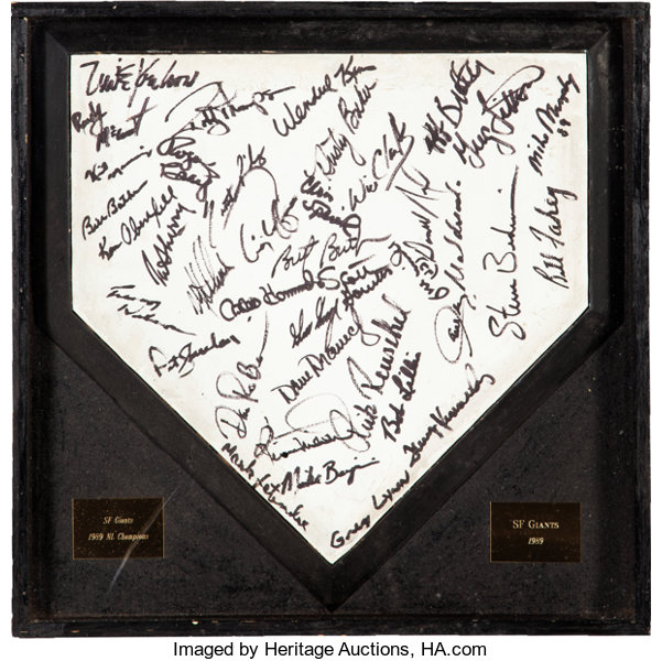 Amazing 1989 San Francisco Giants Game Used Team Signed Home Plate Download Free Architecture Designs Rallybritishbridgeorg