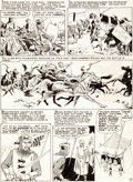 Original Comic Art:Panel Pages, Reed Crandall Valor #3 Story Page 2 Original Art (EC,1955)....