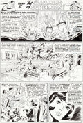 Original Comic Art:Panel Pages, Curt Swan and George Roussos Superman #221 Story Page 7Original Art (DC, 1969)....