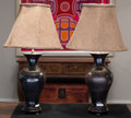 Asian, A Pair of Chinese Porcelain Vases Mounted as Lamps. 29 inches high(73.7 cm). ... (Total: 2 Items)