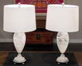 Lighting:Lamps, A Pair of Art Moderne Rock Crystal Table Lamps, late 20th century. 25-1/2 inches high (64.8 cm) (including hardware). ... (Total: 2 Items)