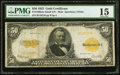 Large Size:Gold Certificates, Fr. 1200a $50 1922 Gold Certificate PMG Choice Fine 15.. ...