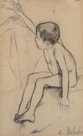 Works on Paper, Suzanne Valadon (French, 1865-1938). Nude boy. Pencil on paper. 6-3/4 x 4-1/4 inches (17.1 x 10.8 cm) (sheet). Signed lo...