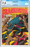 Golden Age (1938-1955):Horror, Frankenstein Comics #27 (Prize, 1953) CGC VF- 7.5 Off-whitepages....