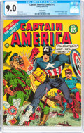 Golden Age (1938-1955):Superhero, Captain America Comics #13 San Francisco Pedigree (Timely, 1942)CGC VF/NM 9.0 Off-white to white pages....