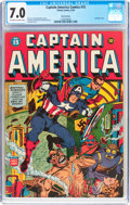 Golden Age (1938-1955):Superhero, Captain America Comics #15 San Francisco Pedigree (Timely, 1942) CGC FN/VF 7.0 Off-white to white pages....