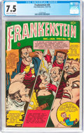 Golden Age (1938-1955):Horror, Frankenstein Comics #28 (Prize, 1953) CGC VF- 7.5 Cream tooff-white pages....