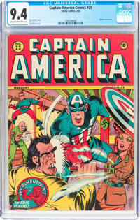 Captain America Comics #23 (Timely, 1943) CGC NM 9.4 Cream to off-white pages