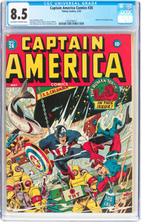 Captain America Comics #26 (Timely, 1943) CGC VF+ 8.5 Off-white to white pages