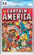 Golden Age (1938-1955):Superhero, Captain America Comics #31 (Timely, 1943) CGC VF/NM 9.0 Off-white to white pages....