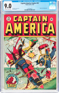 Golden Age (1938-1955):Superhero, Captain America Comics #32 (Timely, 1943) CGC VF/NM 9.0 Off-white to white pages....