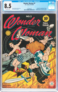 Wonder Woman #2 (DC, 1942) CGC VF+ 8.5 Off-white pages