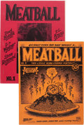 Memorabilia:Underground, Meatball #1 and 2 (Joel Deutsch, 1969) Condition: Average VF.... (Total: 2 )