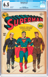 Superman #12 (DC, 1941) CGC FN+ 6.5 Off-white to white pages