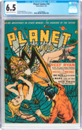 Golden Age (1938-1955):Science Fiction, Planet Comics #19 (Fiction House, 1942) CGC FN+ 6.5 Cream tooff-white pages....