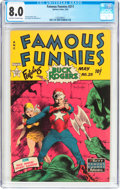 Golden Age (1938-1955):Science Fiction, Famous Funnies #211 (Eastern Color, 1954) CGC VF 8.0 Off-white towhite pages....