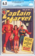 Golden Age (1938-1955):Superhero, Captain Marvel Adventures #18 (Fawcett Publications, 1942) CGC FN+ 6.5 Cream to off-white pages....