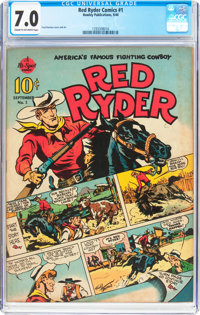 Red Ryder Comics #1 (Dell, 1940) CGC FN/VF 7.0 Cream to off-white pages