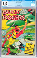 Golden Age (1938-1955):Adventure, Buck Rogers #4 (Eastern Color, 1942) CGC VF 8.0 Off-white pages....