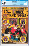 Golden Age (1938-1955):Classics Illustrated, Classic Comics #1 The Three Musketeers - First Edition (Elliott,1941) CGC FN/VF 7.0 Off-white pages....
