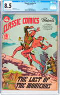 Golden Age (1938-1955):Classics Illustrated, Classic Comics #4 The Last of the Mohicans - First Edition(Gilberton, 1942) CGC VF+ 8.5 Off-white to white pages....