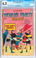 Golden Age (1938-1955):Superhero, World's Finest Comics #59 (DC, 1952) CGC FN+ 6.5 Off-white pages....