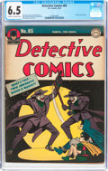 Golden Age (1938-1955):Superhero, Detective Comics #85 (DC, 1944) CGC FN+ 6.5 Cream to off-white pages....