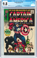 Silver Age (1956-1969):Superhero, Captain America #100 (Marvel, 1968) CGC NM/MT 9.8 Off-white to white pages....