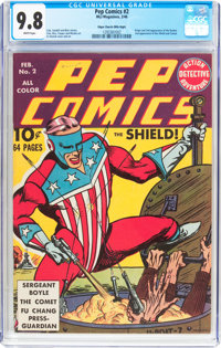 Pep Comics #2 Mile High Pedigree (MLJ, 1940) CGC NM/MT 9.8 White pages