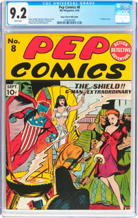 Pep Comics #8 Mile High Pedigree (MLJ, 1940) CGC NM- 9.2 White pages